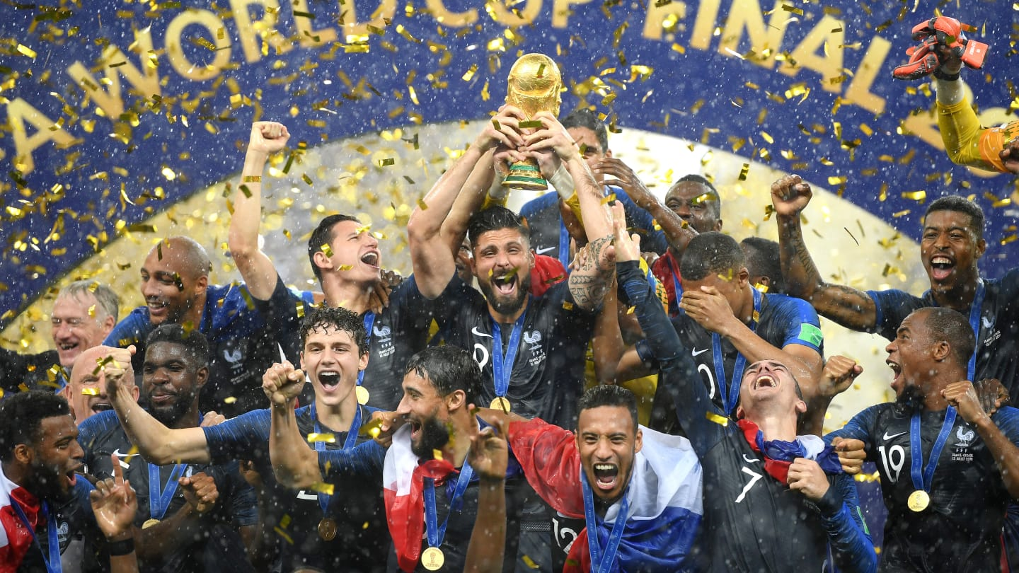 L'Equipe de France de Football remporte la Coupe du Monde 2018 en Russie